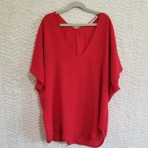 Red LUSH blouse